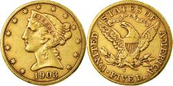Us Coins - Coin, United States, Coronet Head, $5,1903, San Francisco, ,Gold,KM 101