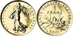 World Coins - Coin, France, Semeuse, Franc, 2001, Paris, , Gold, KM:925.1a