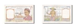 World Coins - French Indo-China, 1 Piastre, 1953, KM #92, AU(55-58), J.6267