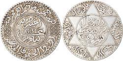 World Coins - Coin, Morocco, Yusuf, 1/2 Rial, 5 Dirhams, 1912/AH1331, bi-Bariz, Paris