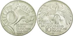 World Coins - Coin, GERMANY - FEDERAL REPUBLIC, 10 Mark, 1972, Karlsruhe, MS(60-62), Silver