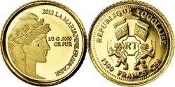 World Coins - Coin, Togo, 1500 Francs, 2012, Paris, La Marianne Française, , Gold