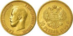 World Coins - Coin, Russia, Nicholas II, 10 Roubles, 1900, St. Petersburg, , Gold