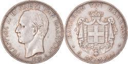 World Coins - Coin, Greece, George I, 5 Drachmai, 1875, Paris, , Silver, KM:46