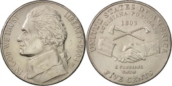 Us Coins - United States, Jefferson, 5 Cents, 2004, Philadelphia, AU, KM:360
