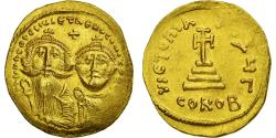 Ancient Coins - Coin, Heraclius, with Heraclius Constantine, Solidus, 610-641, Constantinople