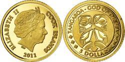 World Coins - Coin, Cook Islands, Tangaroa, 5 Dollars, 2011, , Gold