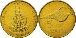 World Coins - Coin, Vanuatu, 5 Vatu, 1999, British Royal Mint, , Nickel-brass, KM:5