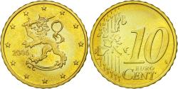 World Coins - Finland, 10 Euro Cent, 2006, , Brass, KM:101
