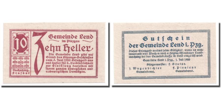 World Coins - Banknote, Austria, Lend, 10 Heller, graphique, 1920, 1920-06-05, UNC(63)