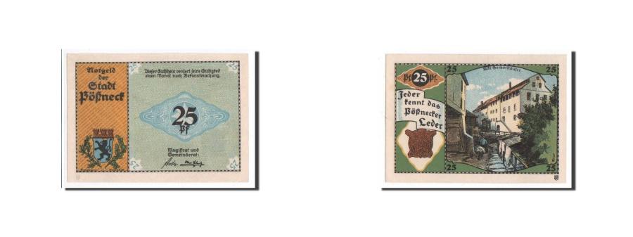 World Coins - Germany, Possneck, 25 Pfennig, paysage, Undated, UNC(65-70), Mehl:1066.6