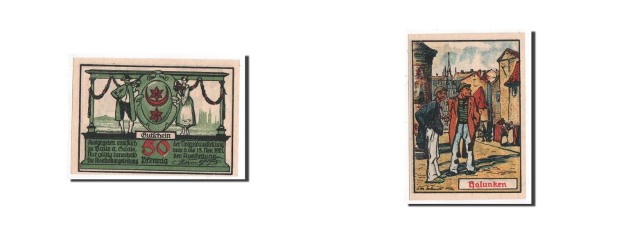 World Coins - Germany, Halle a.d. Saale, 50 Pfennig, casquette, 1921-11-06, UNC(65-70), Mehl: