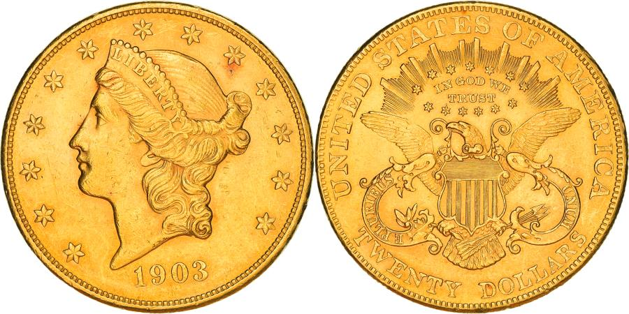US Coins - Coin, United States, Liberty Head, $20, Double Eagle, 1903, U.S. Mint