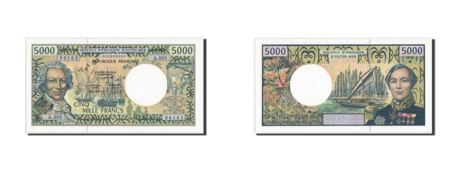 World Coins - French Pacific Territories, 5000 Francs, 1996, KM:3a, UNC