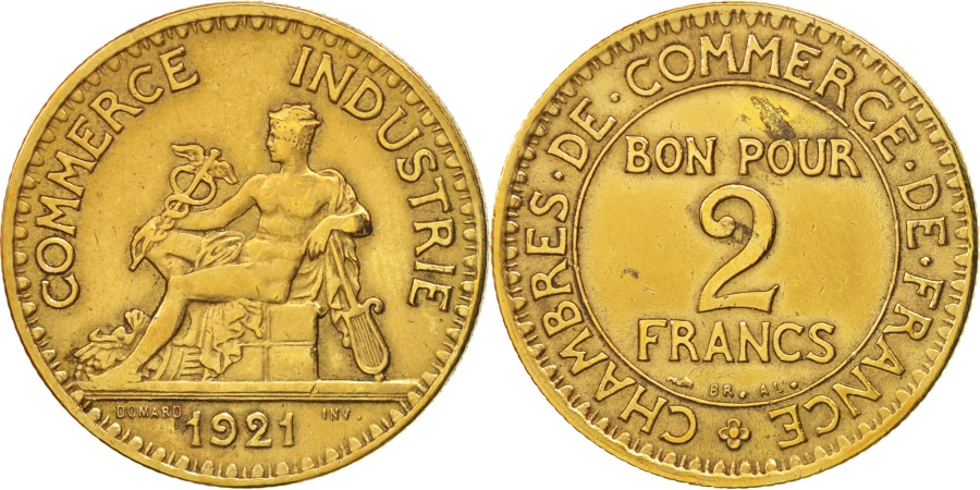 France chambre de commerce 2 francs 1921 paris au 50 for Chambre de commerce japonaise en france