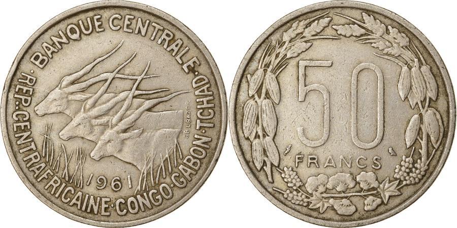 World Coins - Coin, EQUATORIAL AFRICAN STATES, 50 Francs, 1961, Paris,
