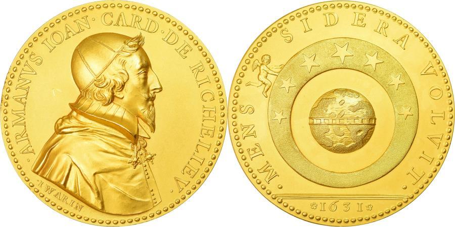 World Coins - France, Medal, Cardinal de Richelieu, 1631, Warin, , Gold