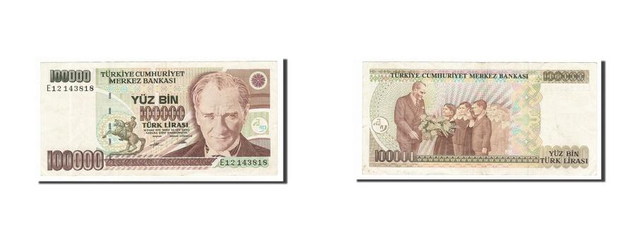 World Coins - Turkey, 100,000 Lira, 1991, KM #205, EF(40-45), E12143818