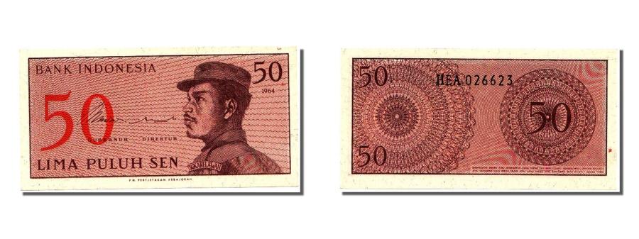 World Coins - Indonesia, 50 Sen, 1964, KM #94a, UNC(65-70), HEA026623
