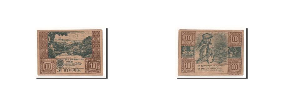 World Coins - Germany, Birkenfelder, 10 Pfennig, personnage, 1921, 1921-02-01, AU(50-53)