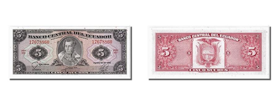World Coins - Ecuador, 5 Sucres, 1982, KM #108b, 1982-08-20, UNC(65-70), 17678860