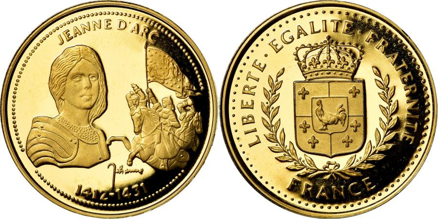 World Coins - France, Medal, Jeanne d'Arc, History, , Gold