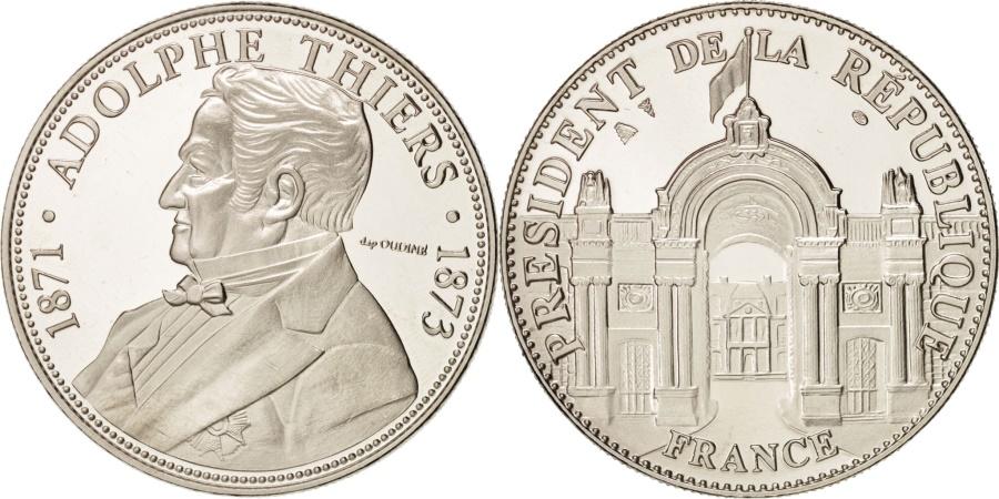 World Coins - France, Les Présidents de la République, Adolphe Thiers, History, Medal