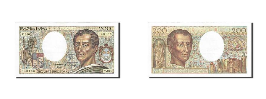 World Coins - France, 200 Francs, 1981, KM:155a, 1982, AU(55-58), Fayette:70.2