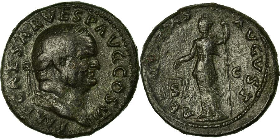 Ancient Coins - Coin, Vespasian, As, Roma, EF(40-45), Bronze, RIC:890