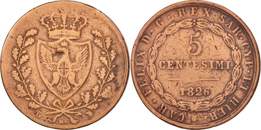 Italian states sardinia carlo felice 5 centesimi 1826 for Coin torino