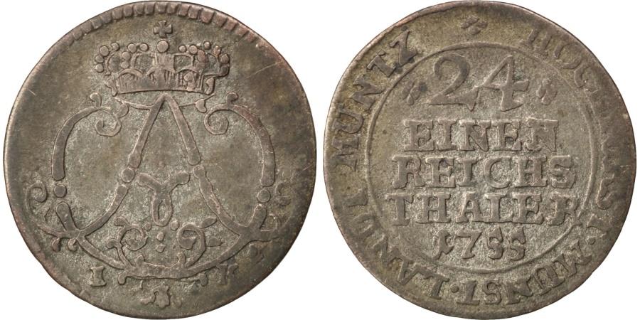 World Coins - GERMAN STATES, 1/24 Thaler, Groschen, 1755, KM #191, , Billon, 19.5,...