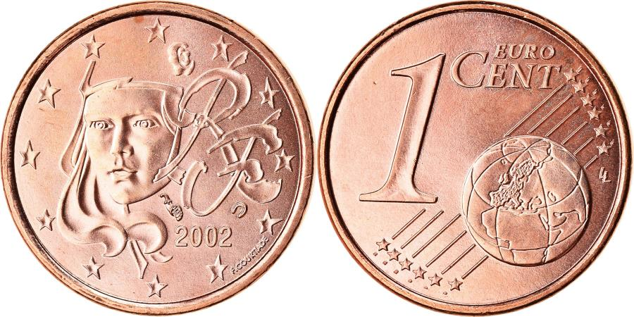 World Coins - France, Euro Cent, 2002, BU, , Copper Plated Steel, Gadoury:1, KM:1282