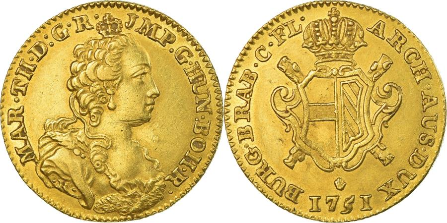 World Coins - Coin, AUSTRIAN NETHERLANDS, Maria Theresa, Souverain, 1751, Anvers,