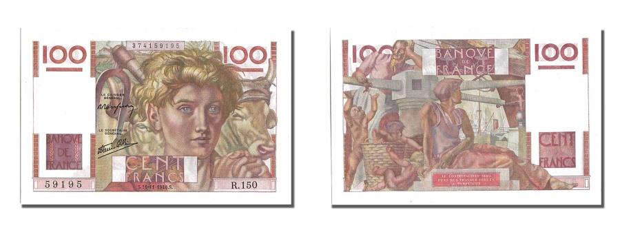 World Coins - France, 100 Francs, 100 F 1945-1954 ''Jeune Paysan'', 1946, KM #128a,...