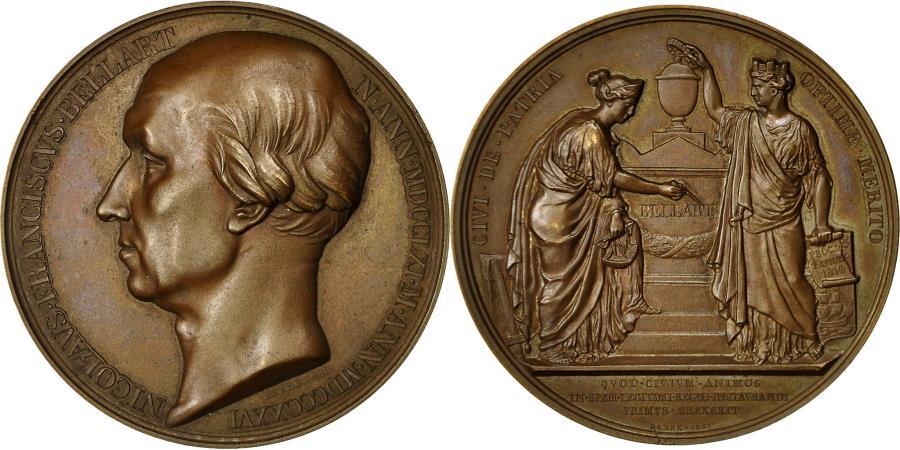 World Coins - France, Medal, Nicolas François Bellart, 1829, Barre, , Copper