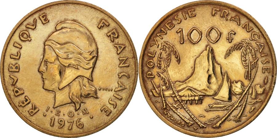 World Coins - French Polynesia, 100 Francs, 1976, Paris, , Nickel-Bronze, KM:14