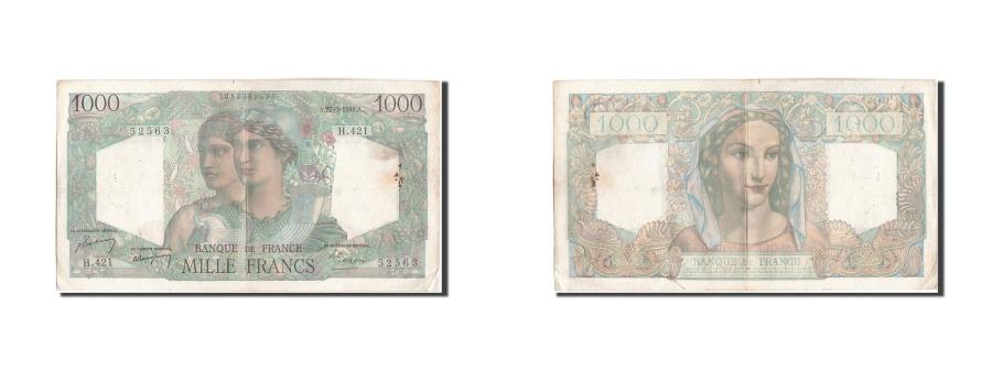 World Coins - France, 1000 Francs, 1 000 F 1945-1950 ''Minerve et Hercule'', 1948, KM:130b,...