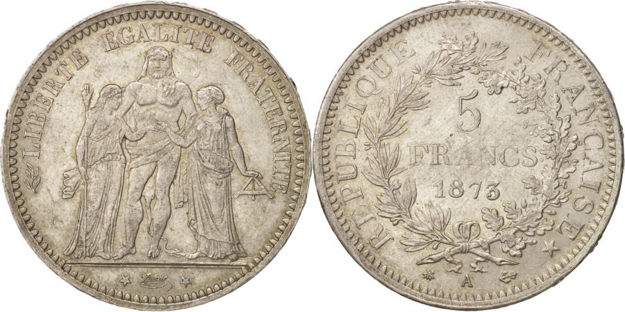 World Coins - France, Hercule, 5 Francs, 1873, Paris, , Silver, KM:820.1, Gadoury:745