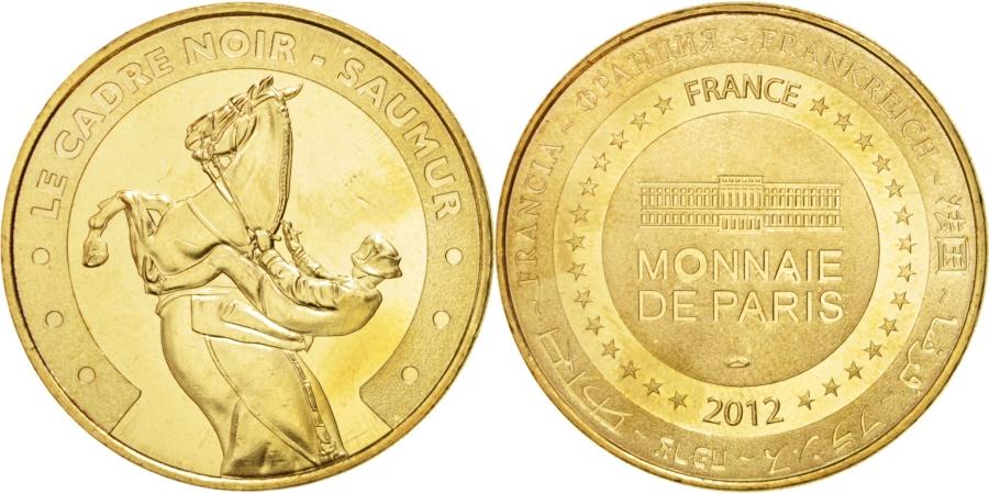 World Coins - France, Touristic token, 49/ Cadre noir - Saumur, 2012, Monnaie de Paris
