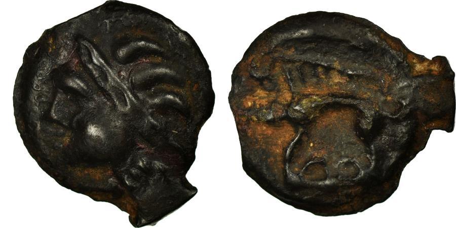 Ancient Coins - Coin, Leuci, Potin, AU(50-53), Potin, Delestrée:153