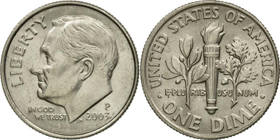 US Coins - Coin, United States, Roosevelt Dime, Dime, 2003, U.S. Mint, Philadelphia