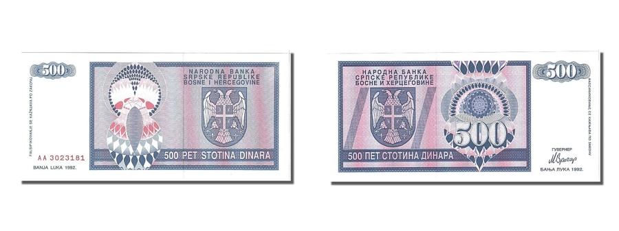 World Coins - Bosnia - Herzegovina, 500 Dinara, 1992, KM #136a, UNC(65-70), AA3023181