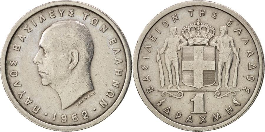 World Coins - Greece, Paul I, Drachma, , Copper-nickel, KM:81