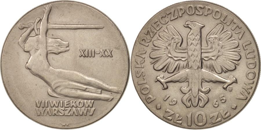 World Coins - Poland, 10 Zlotych, 1965, Warsaw, , Copper-nickel, KM:54