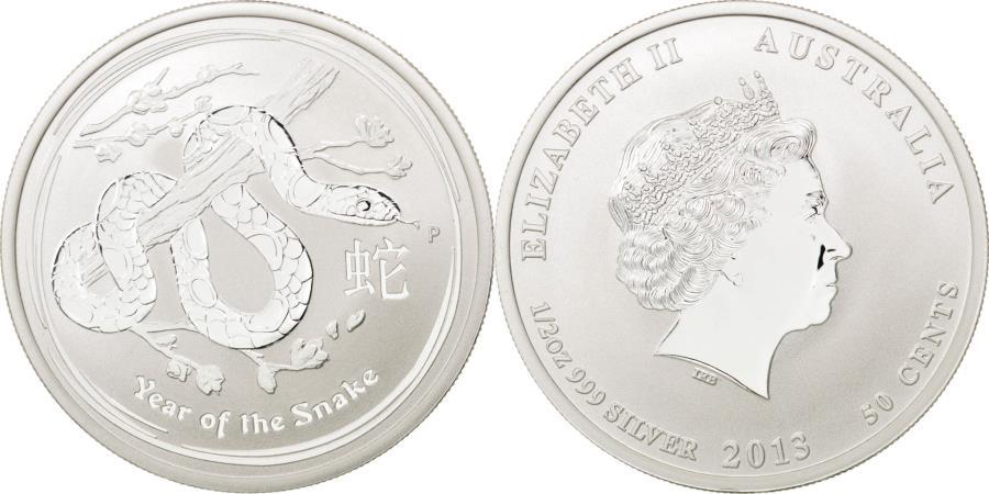 World Coins - Coin, Australia, Elizabeth II, 50 Cents, 2013, MS(65-70), Silver, KM:1832