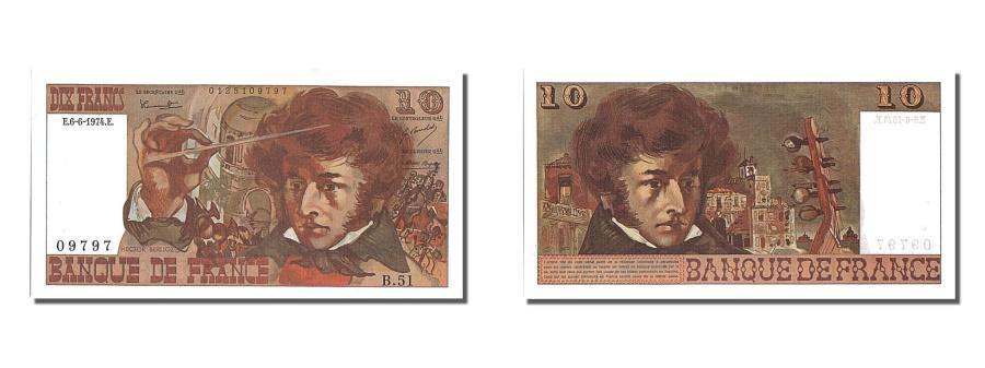 World Coins - France, 10 Francs, 10 F 1972-1978 ''Berlioz'', 1974, KM #150a, 1974-06-06,...