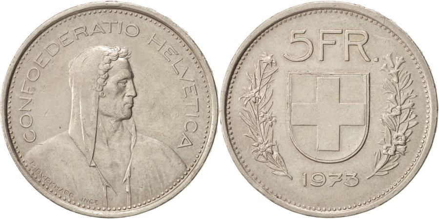 World Coins - Switzerland, 5 Francs, 1973, Bern, , Copper-nickel, KM:40a.1