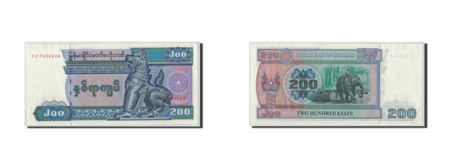 World Coins - Myanmar, 200 Kyats, KM:75b, UNC(63)