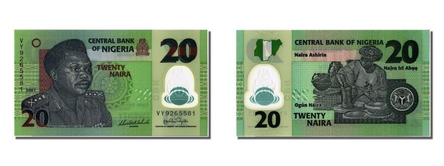 World Coins - Nigeria, 20 Naira, 2007, KM #34b, UNC(65-70), VY9265581