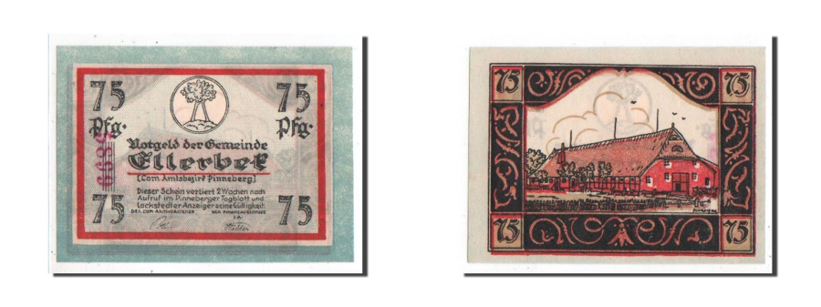 World Coins - Germany, Schleswig-Holstein, 75 Pfennig, AU(55-58), 5899, Mehl #329.1a